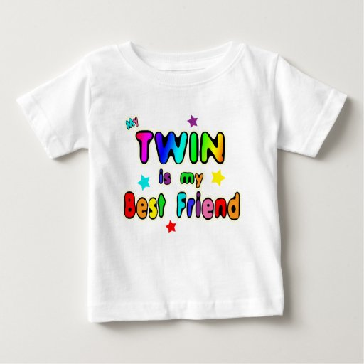 Twin Best Friend Baby T-Shirt | Zazzle