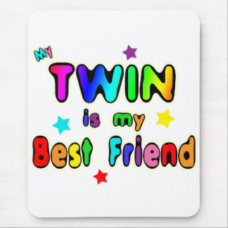 Twin Best Friend Mouse Pad