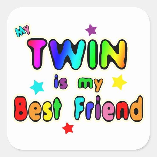 Twin Best Friend Square Sticker