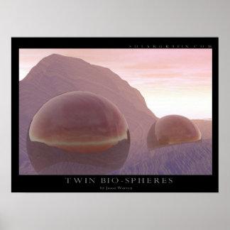 Twin Bio-spheres Poster