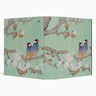 Twin Birds in the Branches 3 Ring Binder