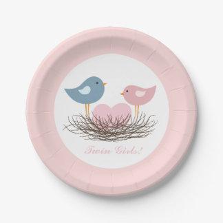 Twin Bird's Nest | Baby Shower Paper Plate