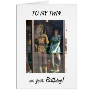 TWIN-BIRTHDAY = REMEMBER OUR SHOPPING FUN? CARD