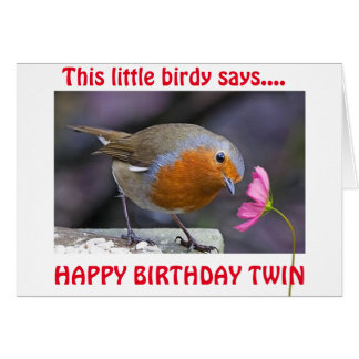 TWIN BIRTHDAY WISHES FROM THIS LITTLE BIRDY CARD