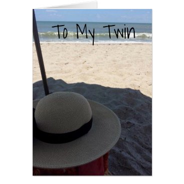 **TWIN** BIRTHDAY WITH **BEACH WISHES*** and BEST Card