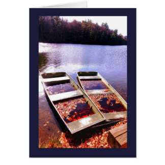 Twin Boats Greeting Cards