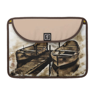 Twin Boats in Sepia MacBook Pro Sleeves
