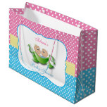 Twin Boy and Girl Baby Shower Large Gift Bag