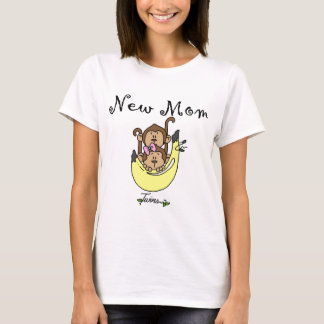 Twin Boy and Girl New Mom Tshirts