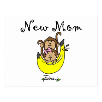 Twin Boy and Girl New Mom Tshirts Postcard