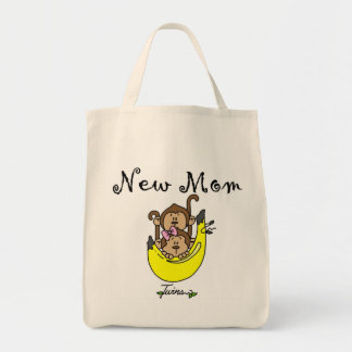 Twin Boy and Girl New Mom Tshirts Tote Bag