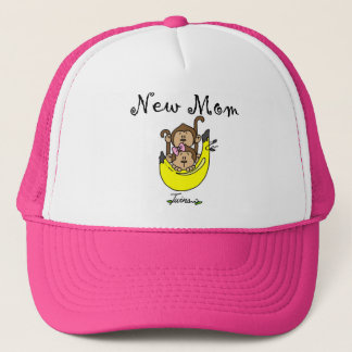 Twin Boy and Girl New Mom Tshirts Trucker Hat