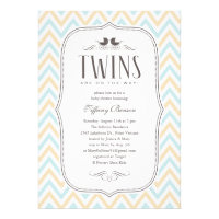 Twin Boy Baby Shower Invitations