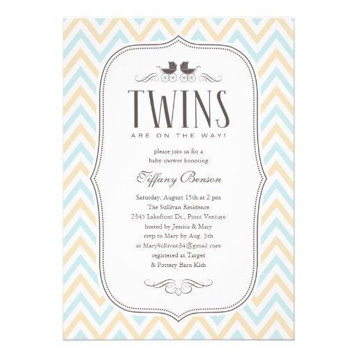 twin boy baby shower invitations 5 x 7 invitation card zazzle