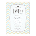 Twin Boy Baby Shower Invitations