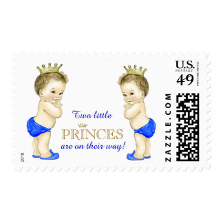 Twin Boy Baby Shower Postage