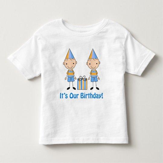 Twin Boy Birthday Shirt