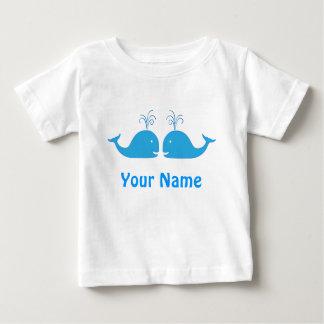 Twin Boy Blue Whale Cute T Shirt