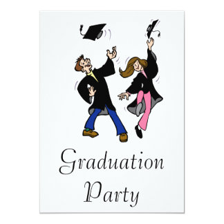 Twin Boy & Girl Graduates Card