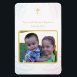 """Twin Boy &amp; Girl Photo Baptismal Magnet Invitations<br><div class=""""desc"""">Invite your guests with this adorable keepsake magnet invitation.</div>"""