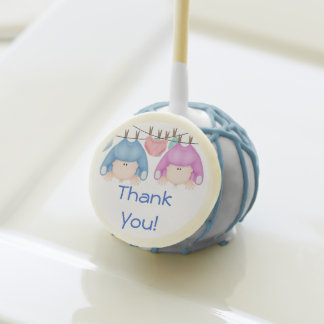 TWIN BOY & GIRL  Thank You Cake Pops Baby Showers!