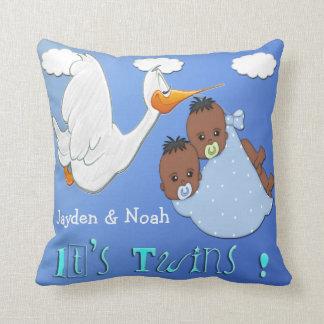 Twin Boys B - Stork Keepsake Pillow