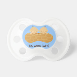Twin Boys Babies In A Peanut Baby Pacifiers