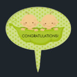 "Twin Boys Baby Shower Cake Topper<br><div class=""desc""></div>"