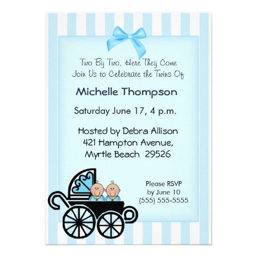 Twin Boys Baby Shower Invitations is good invitations design
