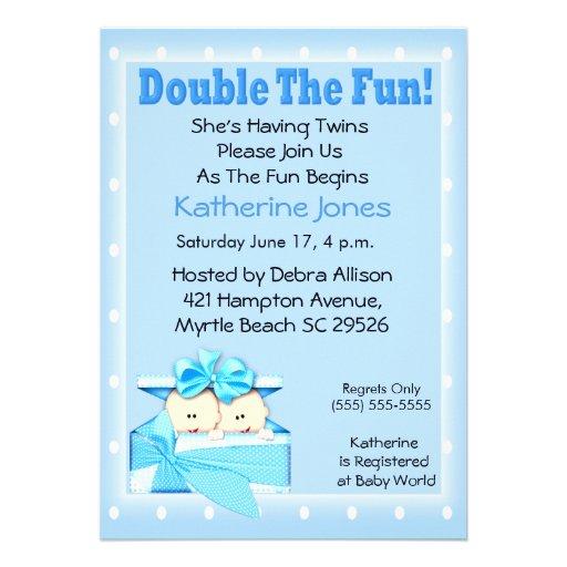 twin boys baby shower invitations 5 x 7 invitation card zazzle