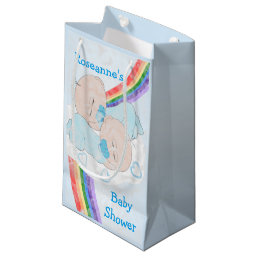 Twin Boys Baby Shower Small Gift Bag