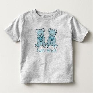 Twin Boys  Blue Bear T-Shirt