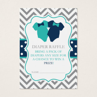 Twin Boys Bodysuit Diaper Raffle Tickets