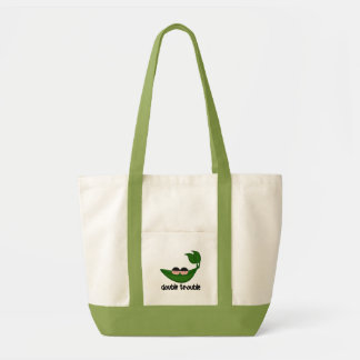 Twin Boys  Double Trouble Peapod Tote Bag