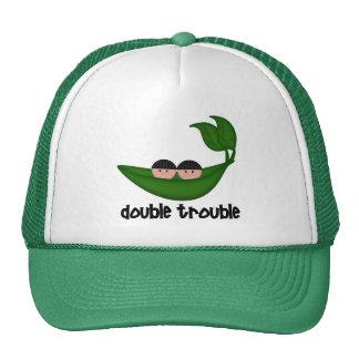 Twin Boys  Double Trouble Peapod Trucker Hat