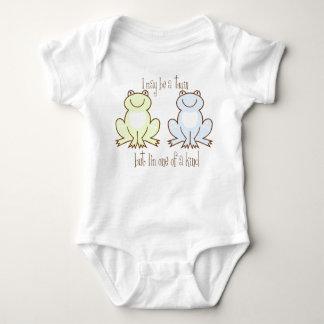 Twin Boys Frog Baby Bodysuit