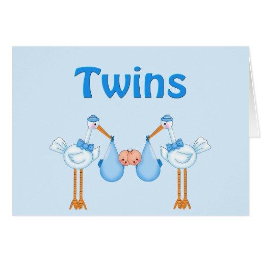 Twin Boys Greeting Card