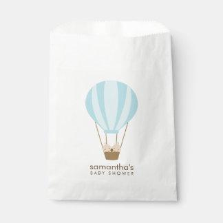 Twin Boys in Blue Balloon Baby Shower Favor Bag
