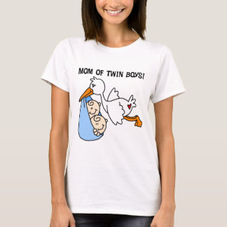 Twin Boys Mom-Stork Tshirts and Gifts