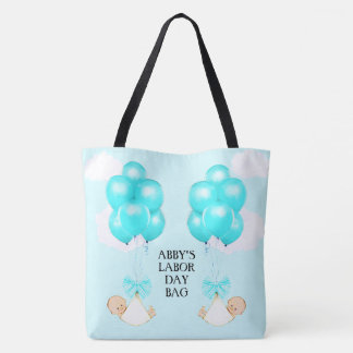Twin Boys Mom-to-be Tote Bag