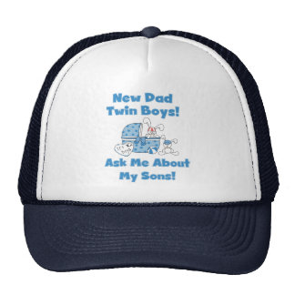 Twin Boys-New Dad Tshirts and Gifts Trucker Hat