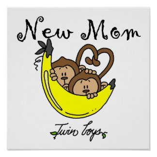 Twin Boys New Mom Gifts Posters