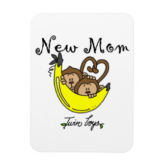Twin Boys New Mom Gifts Rectangular Photo Magnet