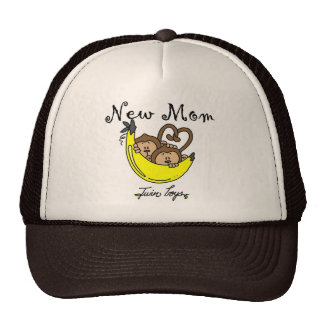 Twin Boys New Mom Tshirts and Gifts Trucker Hat