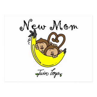 Twin Boys New Mom Tshirts and Gifts Postcard