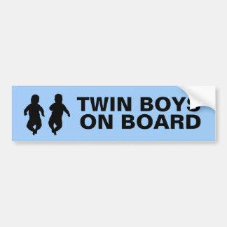 Twin Boys on Board Car Bumper Sticker