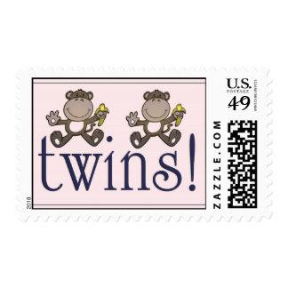 Twin boys! postage