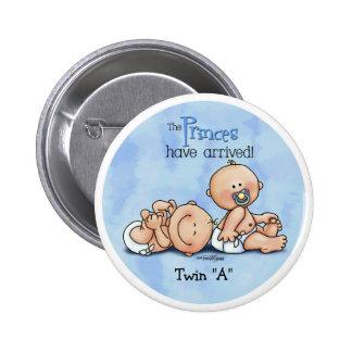Twin Boys - Royal Princes Pinback Button