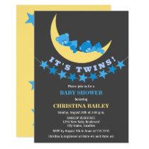 Twin Boys Teddy Bear Baby Shower Card