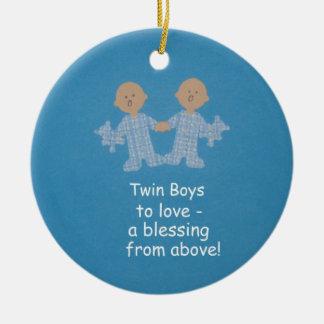 Twin boys to love! ceramic ornament